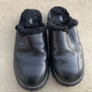 Ugg leather slide on clog mules